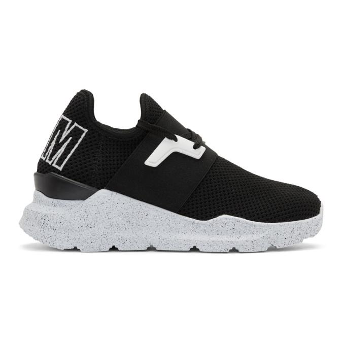 MSGM Black Elastic Band Knit Sneakers