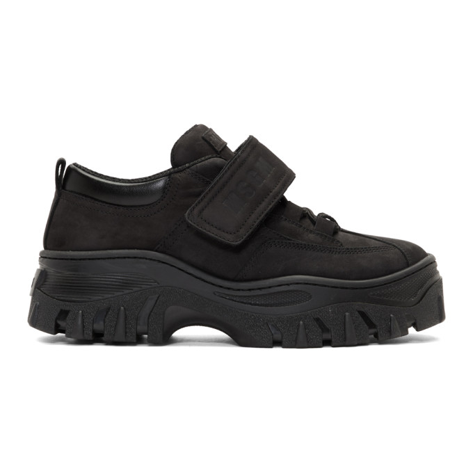 MSGM Black Suede Double Sole Sneakers
