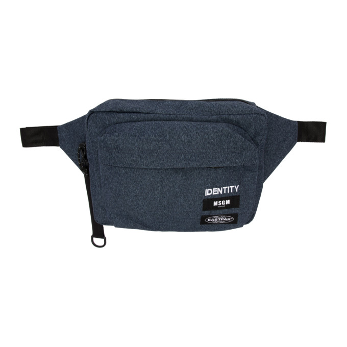 MSGM Blue Eastpak Edition 'Identity' Belt Pouch
