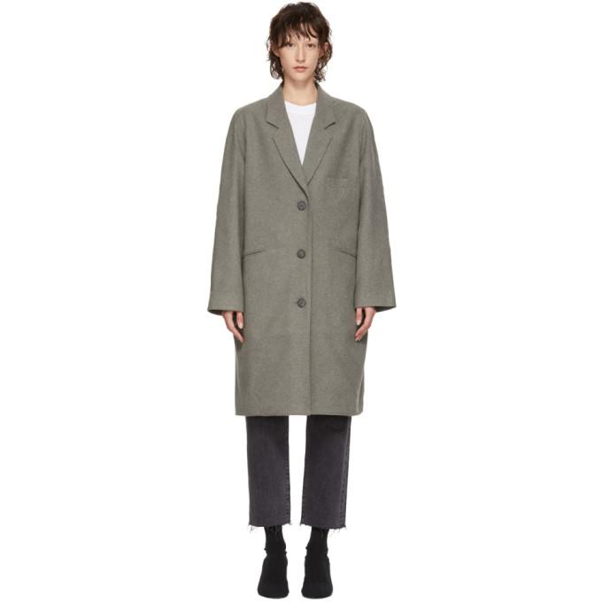 Image of 6397 Grey Felted Coat