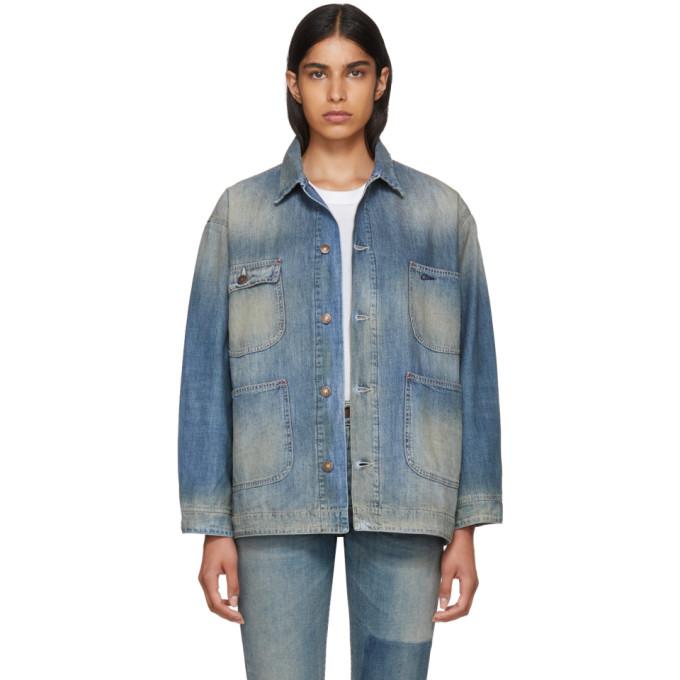 Image of 6397 Blue Denim Worker Jacket