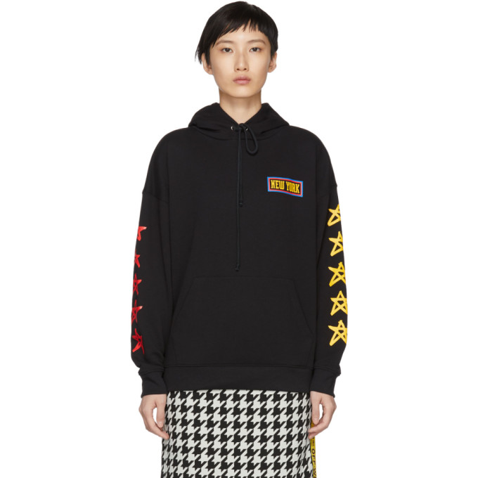 Image of 6397 Black 'New York' Hoodie