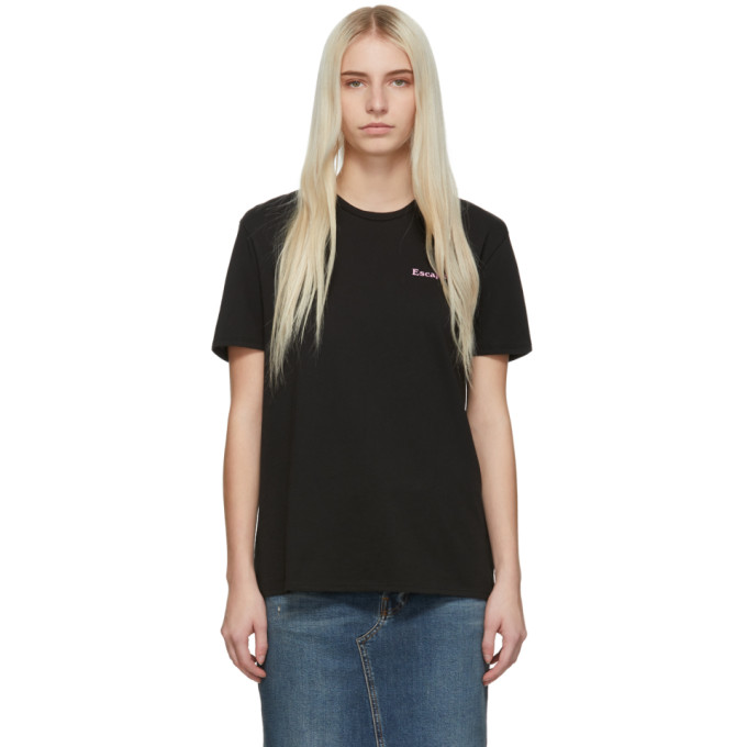 Image of 6397 SSENSE Exclusive Black 'Escapism' Boy T-Shirt