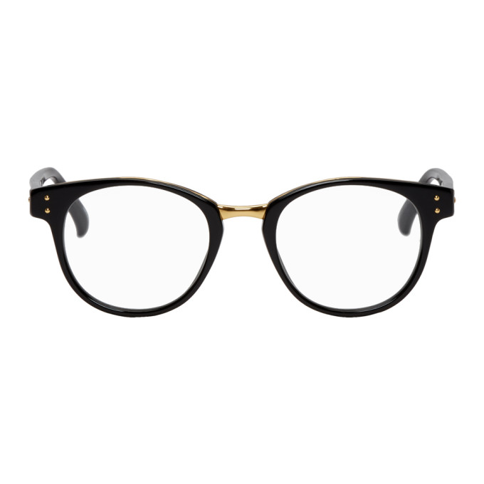 LINDA FARROW LUXE BLACK AND GOLD 581 C7 GLASSES