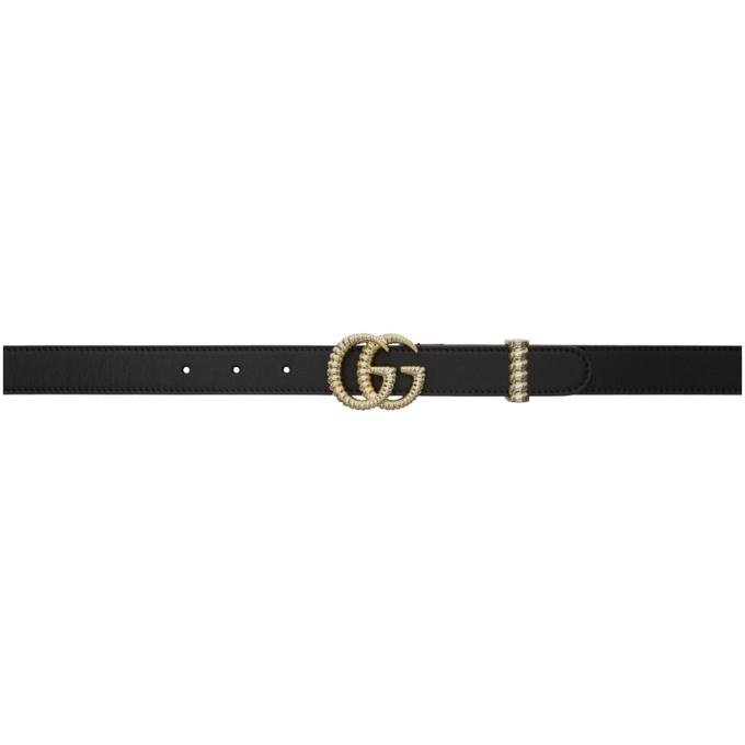Gucci GUCCI BLACK GG BELT