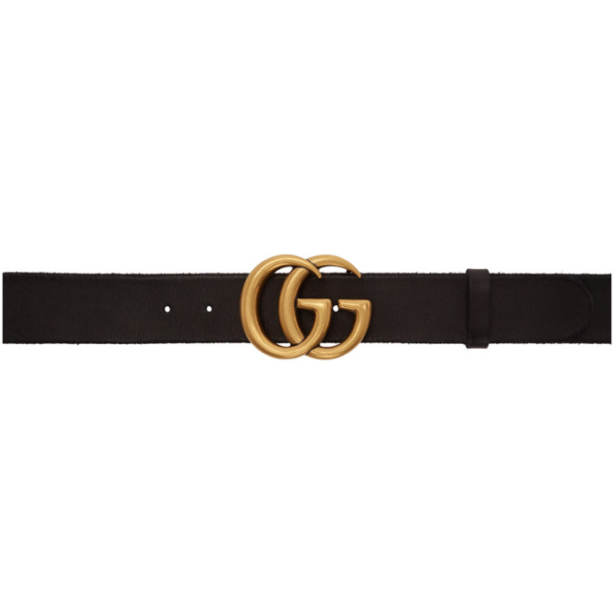 958c217b4f3 Gucci Black GG Toscano Belt