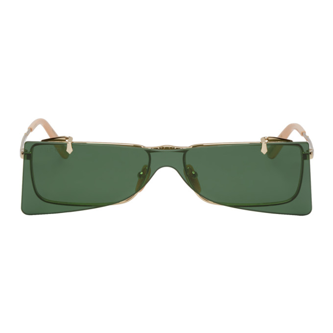 768f066a27f Gucci Gold Square Frame Flip Up Sunglasses