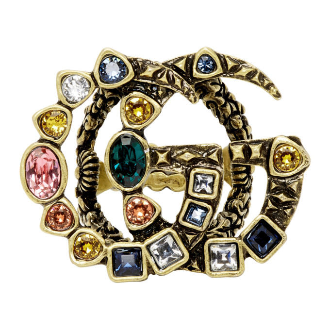 GUCCI GOLD GG MARMONT RING
