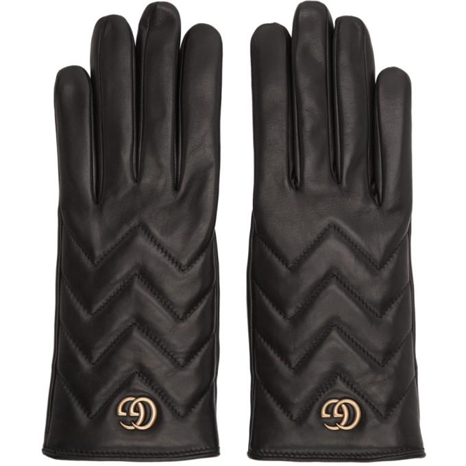 Gucci Black GG Marmont Gloves