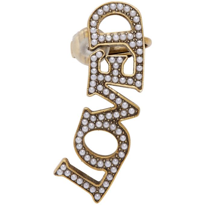 d201be5e8 Gucci Gold Pearl 'Loved' Ear Cuff | ModeSens