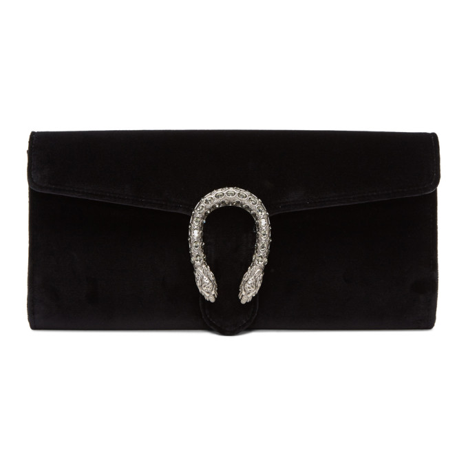 Gucci Black Velvet Dionysus Clutch