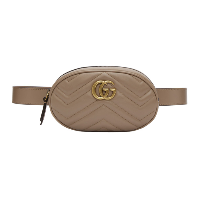 GUCCI GREY GG MARMONT 2.0 BELT POUCH