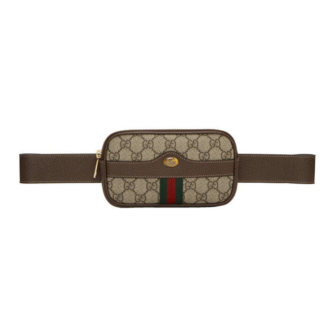 GUCCI BEIGE MINI GG SUPREME BELT BAG