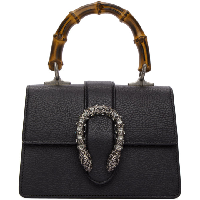 Gucci Black Mini Dionysus Top Handle Bag