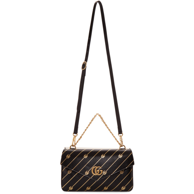 Gucci Black and Off-White Thiara Double Bag