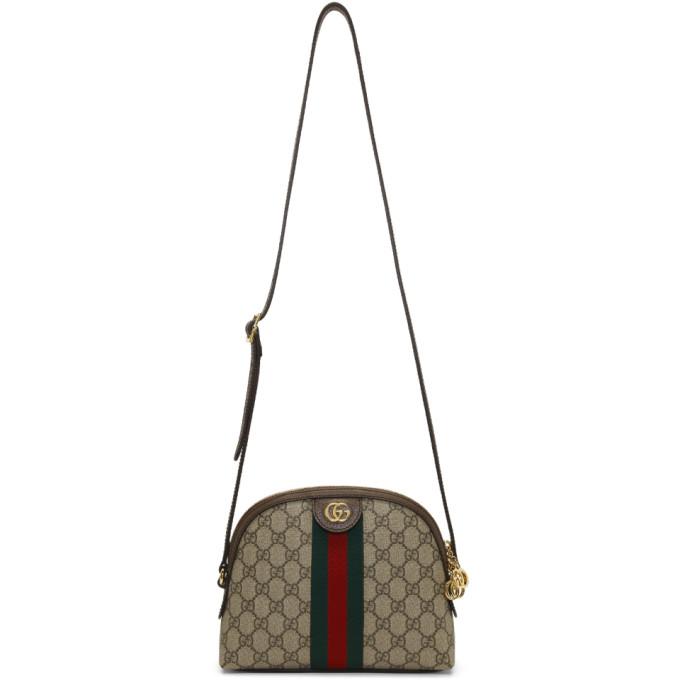 Gucci Beige Small GG Supreme Ophidia Bag