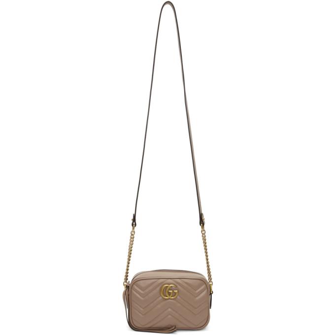 Gucci Pink Mini GG Marmont 2.0 Camera Bag