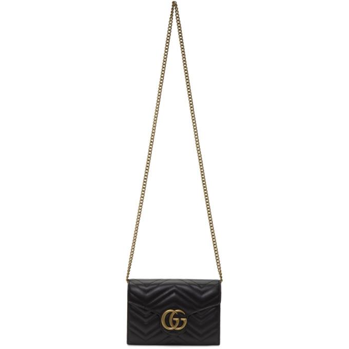 Gucci Black GG Marmont 2.0 Shoulder Bag
