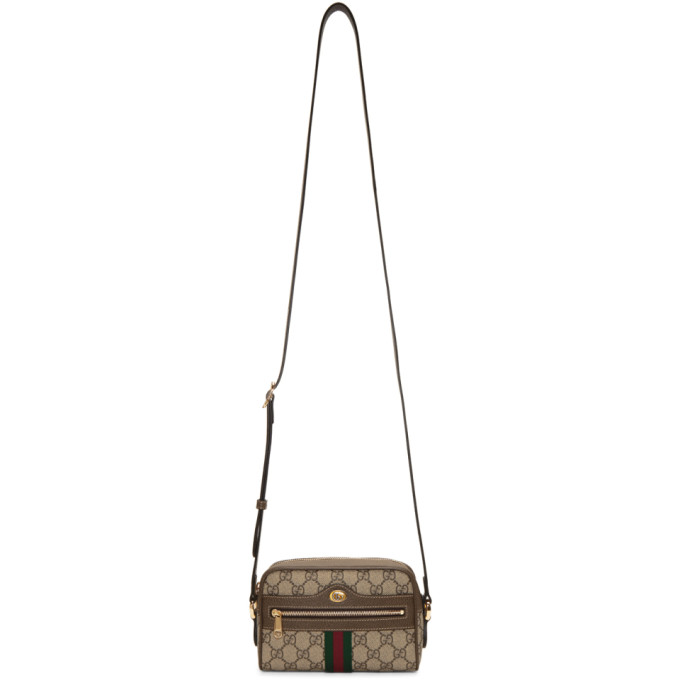354d3b70114b Gucci Multicolor Ophidia Gg Supreme Small Belt Bag In 8745 Brown ...