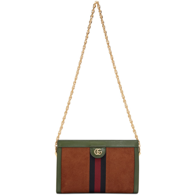 Gucci Red Small Suede Ophidia Chain Bag
