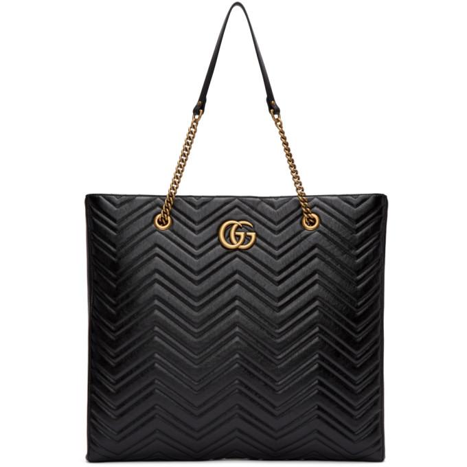 Gucci Black Oversized GG Marmont 2.0 Tote