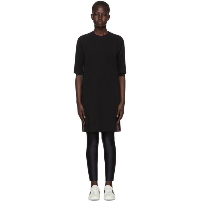 Gucci ブラック ウェビング T シャツ ドレス