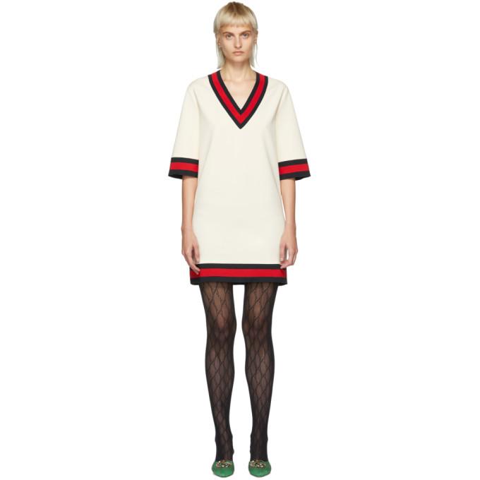 Gucci オフホワイト ショート ウェビング ドレス