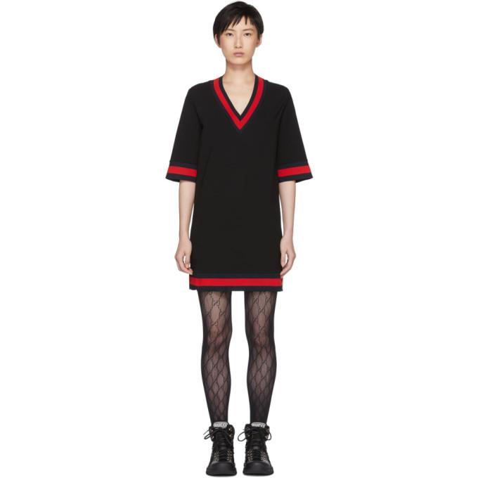 Gucci ブラック ショート ウェビング ドレス