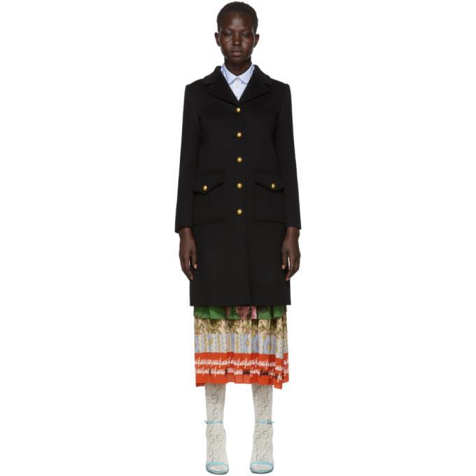 Gucci ブラック GG クラシック コート