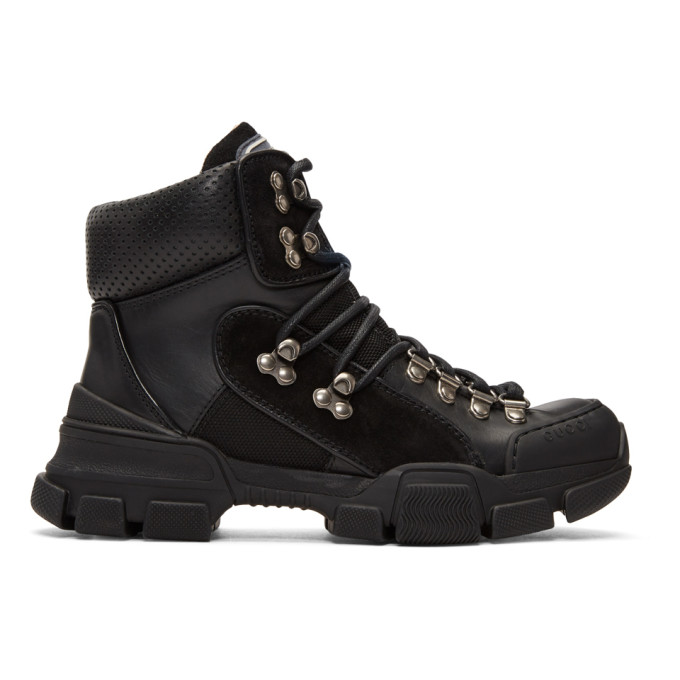 Gucci Black Flashtrek Ankle Boots
