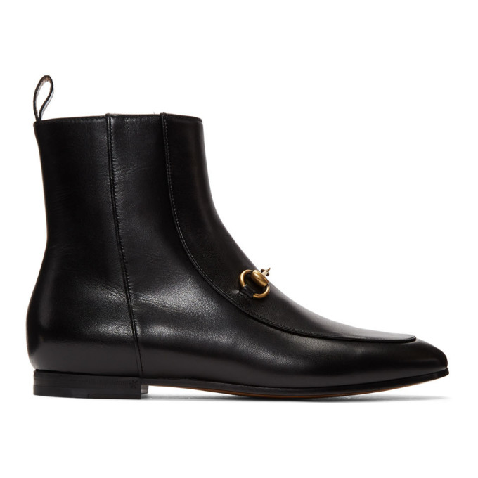 Gucci Black New Jordaan Ankle Boots