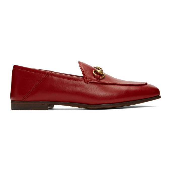 Gucci Red Brixton Crushback Loafers