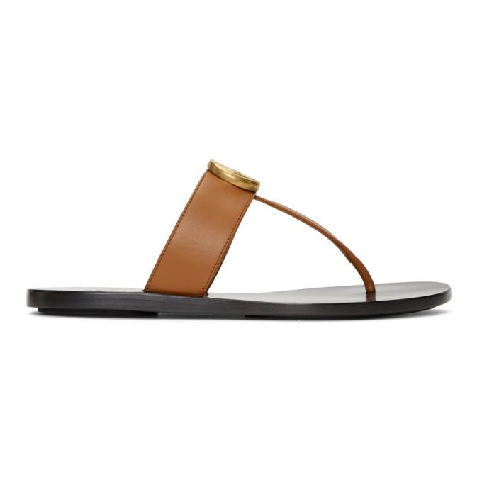 Gucci Tan Marmont Sandals