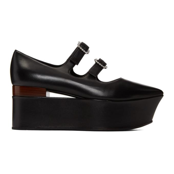 Gucci Black Platform Ballerina Flats