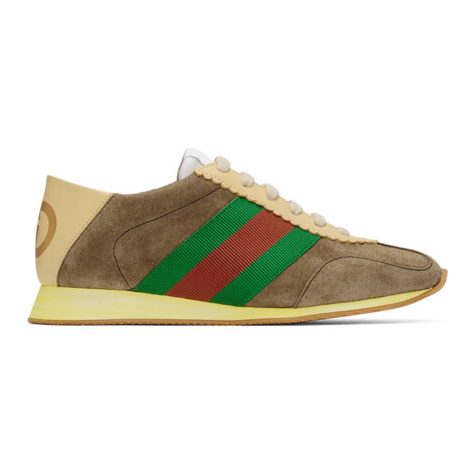 Gucci Brown Suede Sneakers