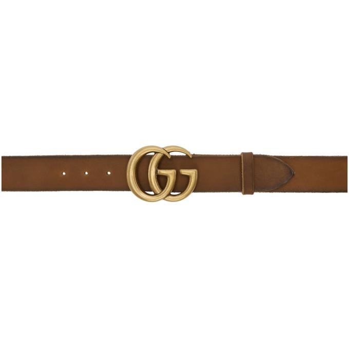 Gucci ブラウン GG トスカーノ ベルト