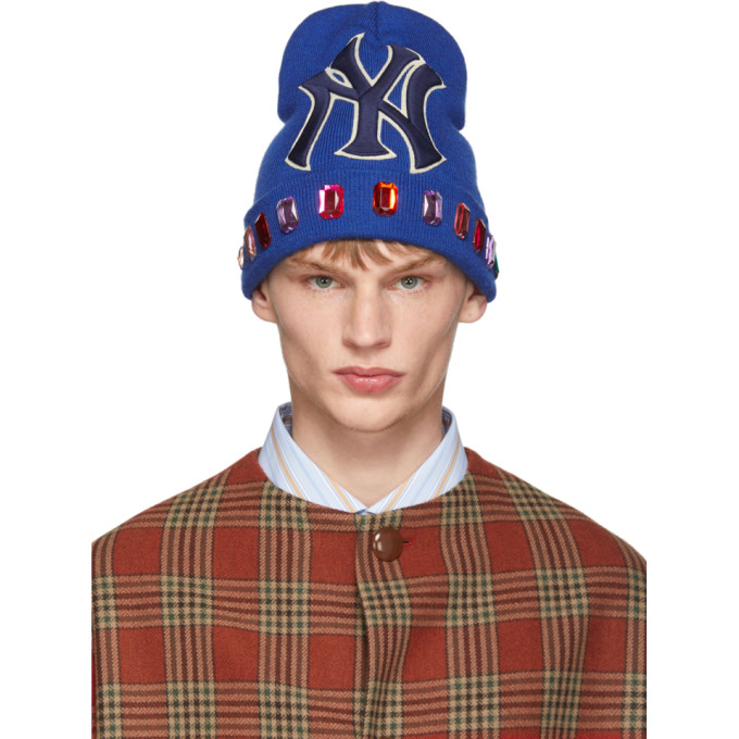 Gucci Blue NY Yankees Edition Wool Beanie