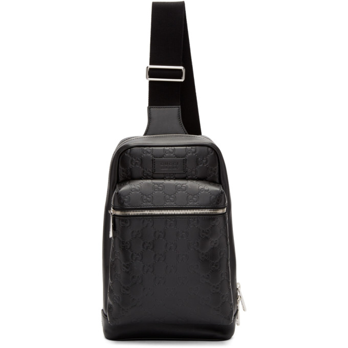 Gucci Black Leather Single Backpack