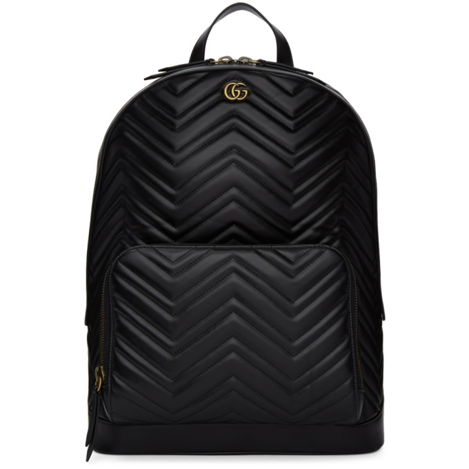 Gucci Black Quilted Leather Backpack
