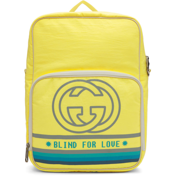98aac42d86 Gucci Medium Backpack With Interlocking G Print In 7482 Yellow ...