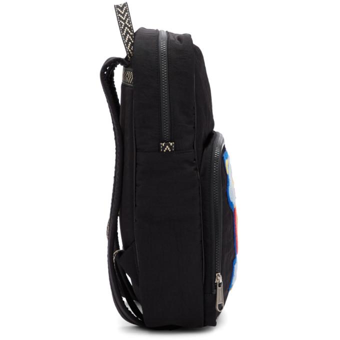 77d6a7cf698 Gucci Black Medium 80s Patch Backpack