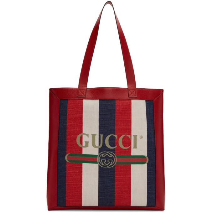 Gucci トリコロール ストライプ トート