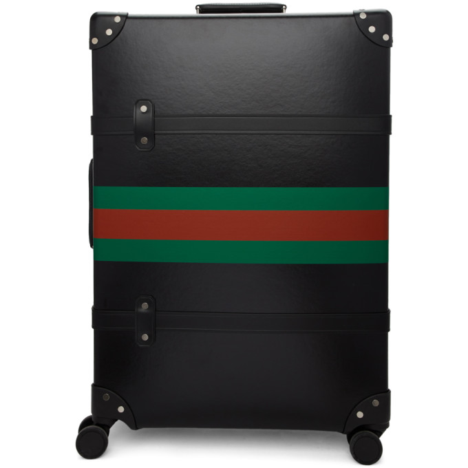 Gucci Black Globe-Trotter Edition Web Large Trolley Suitcase