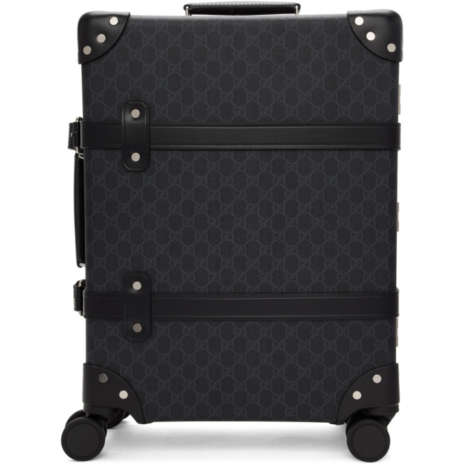 Gucci Black Globe-Trotter Edition GG Carry-On Suitcase
