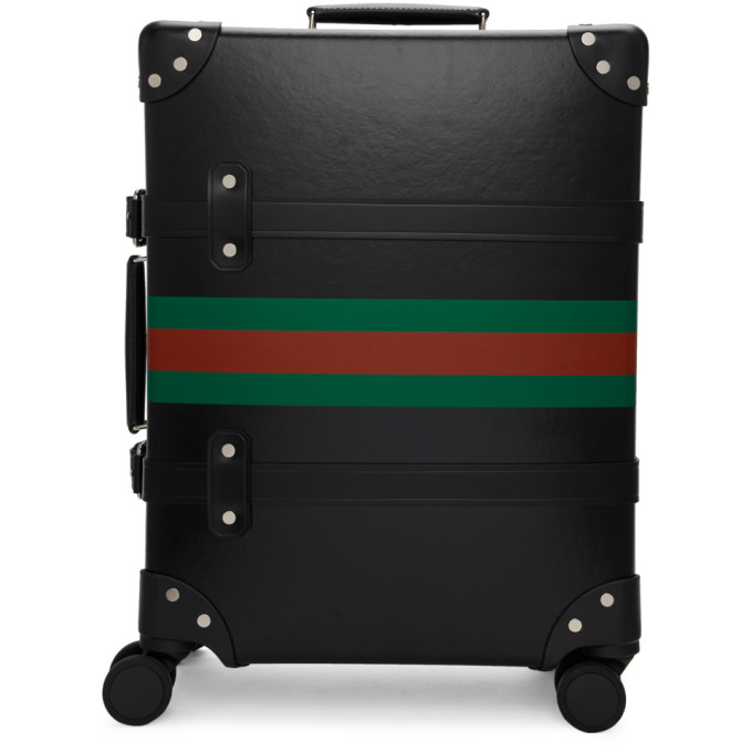 Gucci Black Globe-Trotter Edition Web Carry-On Suitcase
