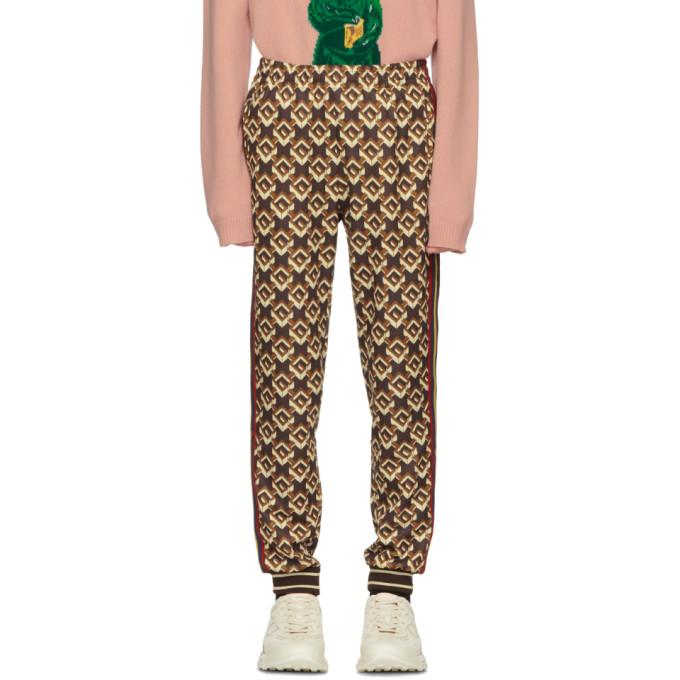 Gucci ブラウン Isometric G ラウンジパンツ