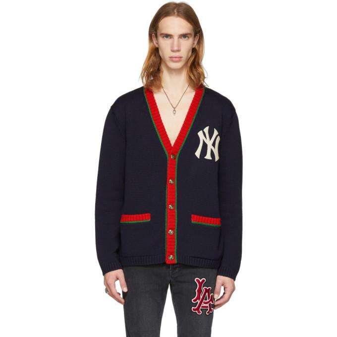 Gucci NY Yankees Edition ネイビー カーディガン