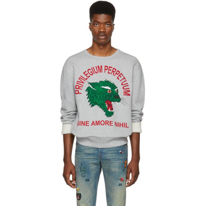cdc51eadd3d1 Gucci Grey Privilegium Perfectuum Tiger Sweatshirt