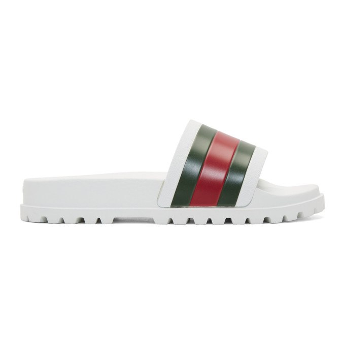 Gucci White Treck Sandals