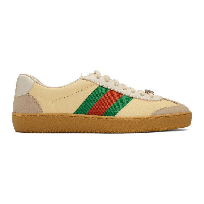 Gucci Yellow & Beige G74 Sneakers